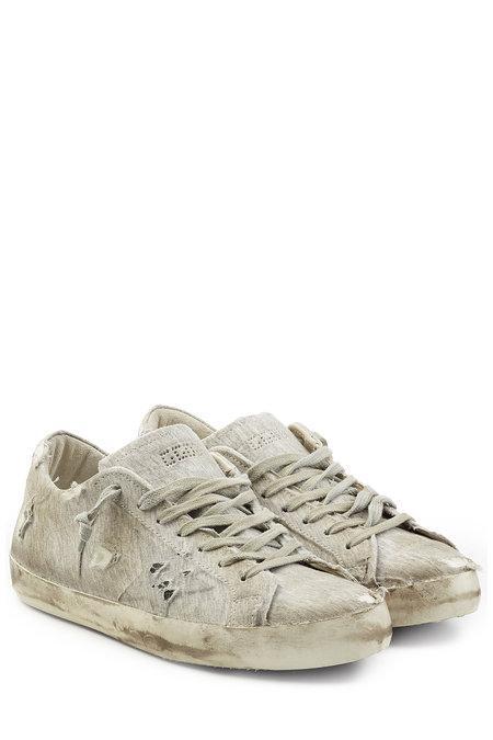 Golden Goose Super Star Fabric Sneakers In Grey