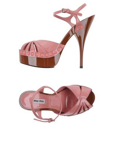 Miu Miu Sandals In Pastel Pink