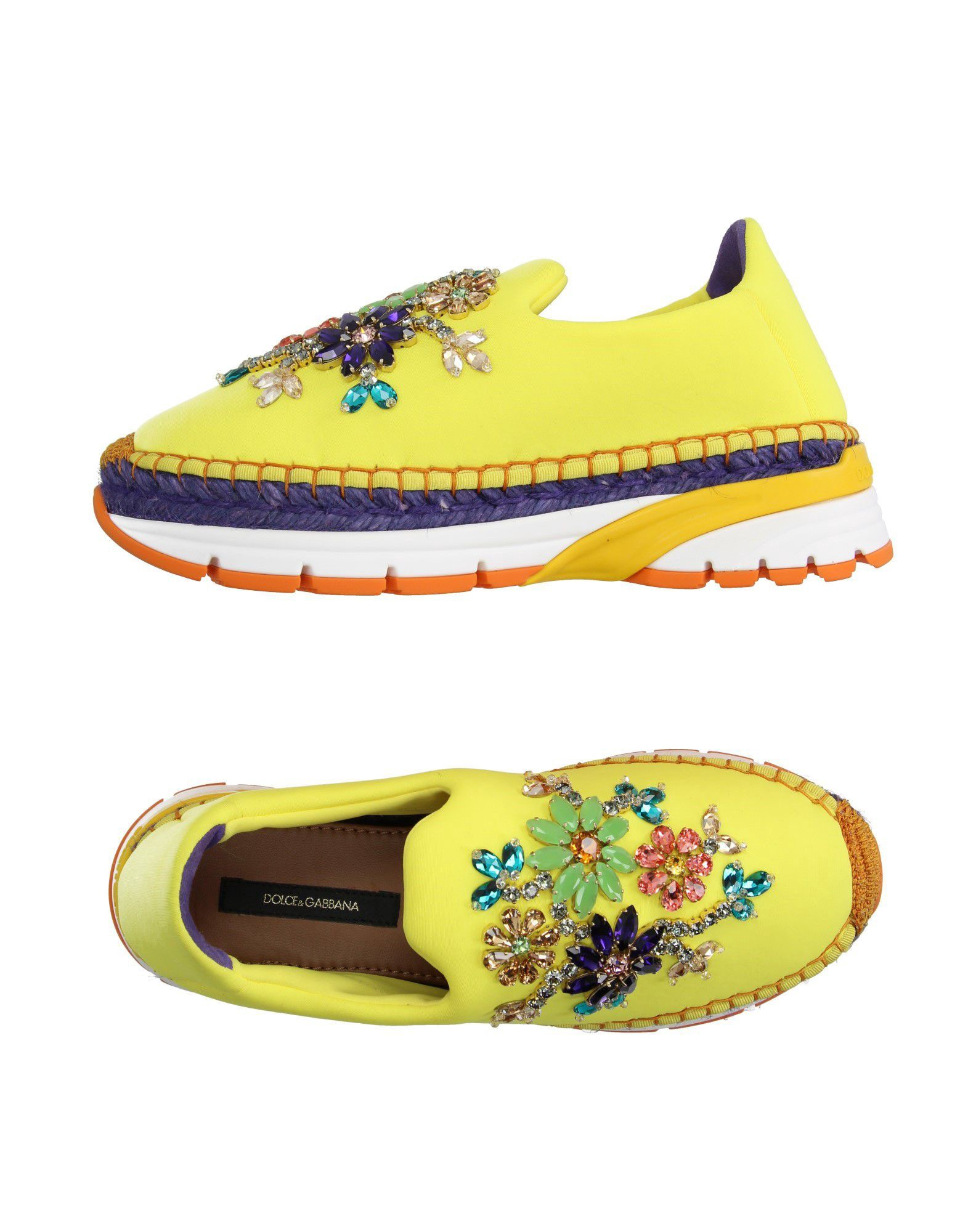 Dolce & Gabbana 运动鞋 In Yellow