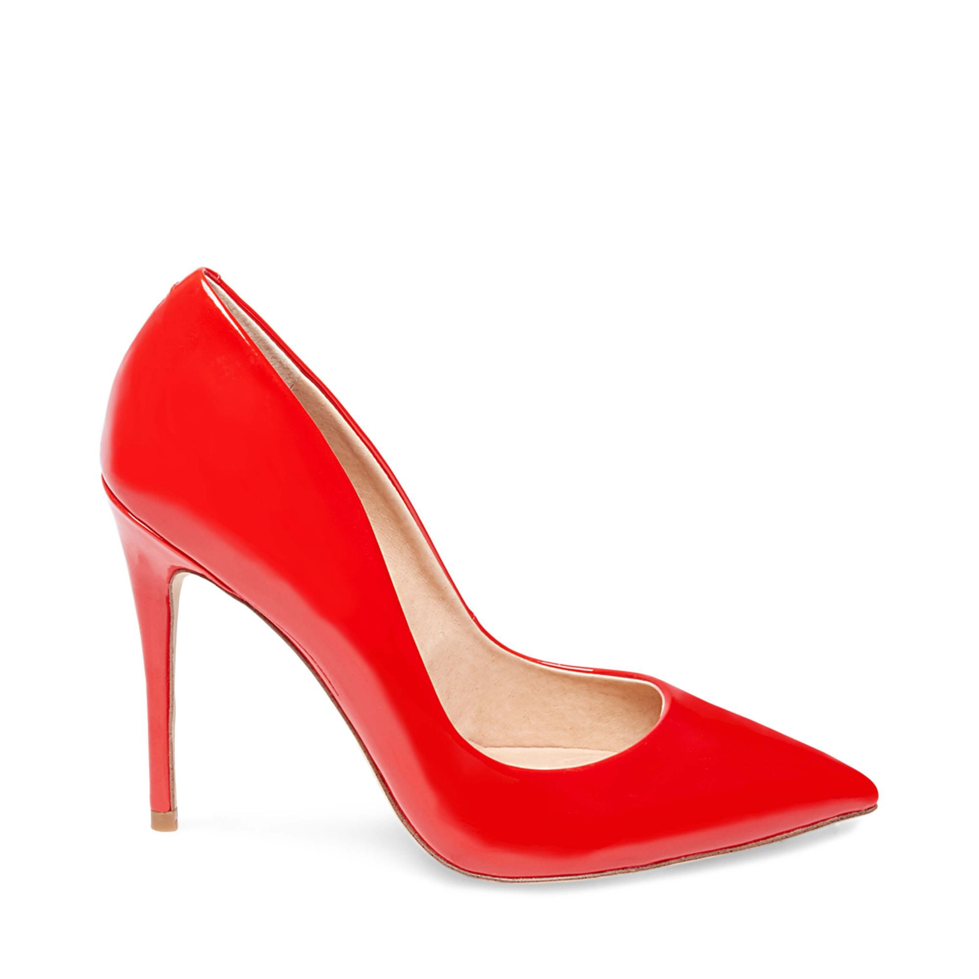Steve Madden Daisie Patent Leather Courts In Red Patent