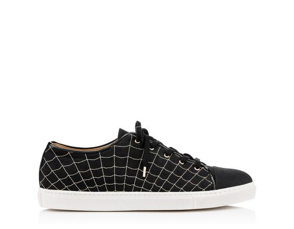 Charlotte Olympia Men's Web Sneakers In Black