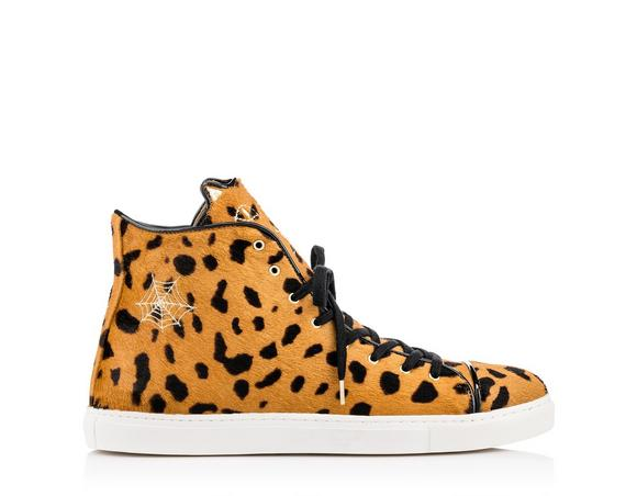 Charlotte Olympia Men's Purrrfect High Tops In Hyena