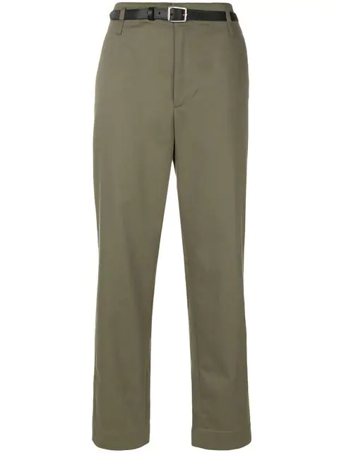 Golden Goose Golden Cotton-twill Cropped Chino Trousers In A3