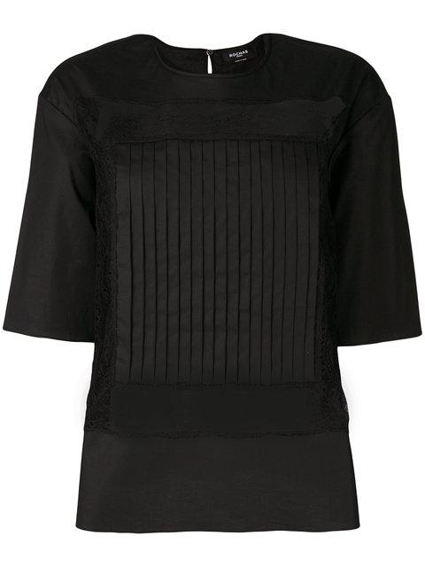 Rochas Sheer Panel Blouse