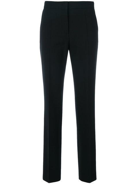Alberta Ferretti Tasche A Filo Tailored Trousers In Black