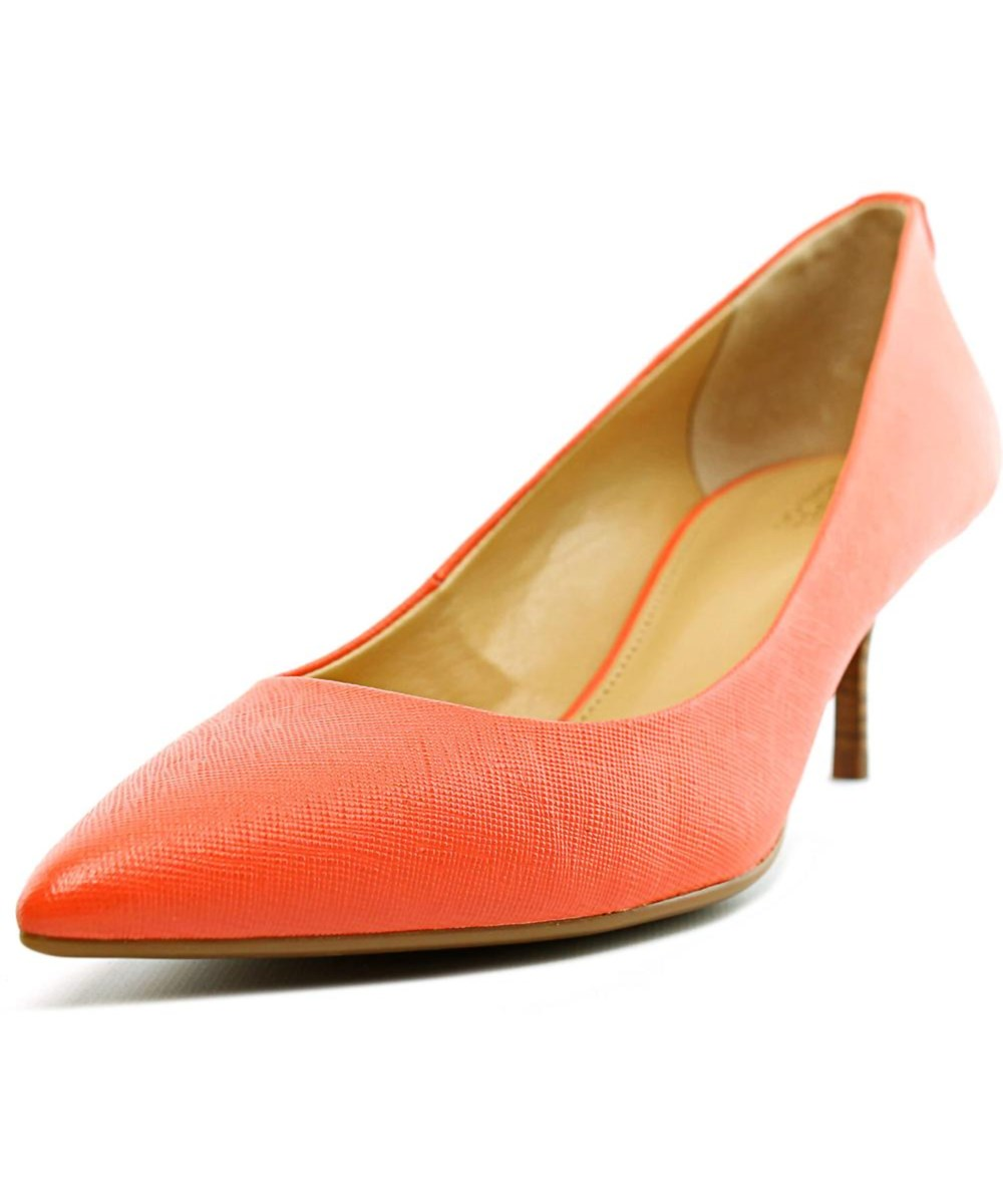 Michael Michael Kors Flex Kitten Pump Women  Pointed Toe Leather Pink Heels'