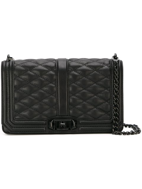 Rebecca Minkoff Love Jumbo Quilted Leather Crossbody Bag In Black