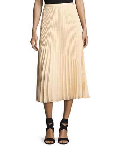 Elizabeth And James Yolanda Sunburst Pleated A-line Skirt In Toast