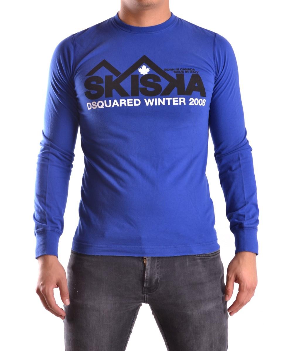 Dsquared2 Men's  Blue Cotton T-shirt