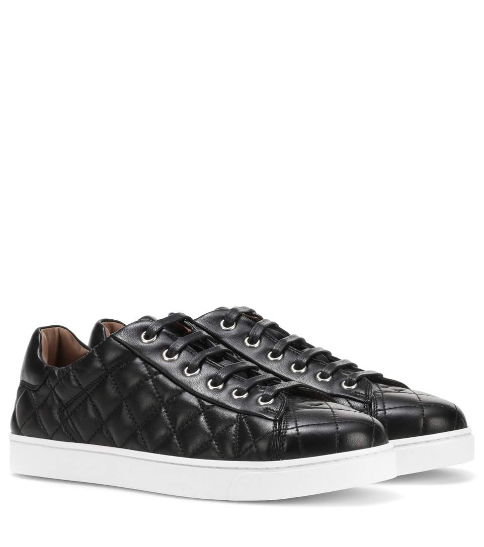 Gianvito Rossi Low Driver Leather Sneakers In Black