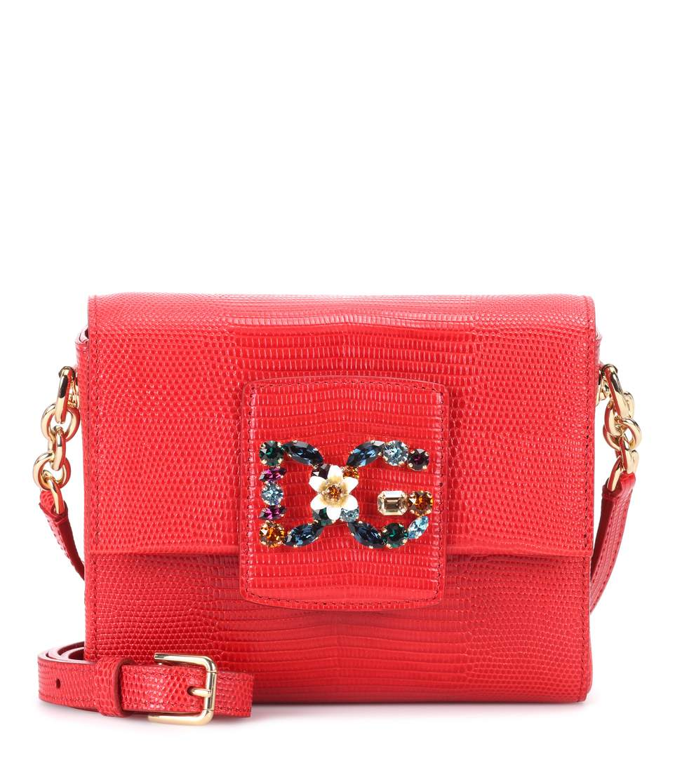 45b9522be856 Dolce   Gabbana Dg Millennials Mini Leather Shoulder Bag In Red ...