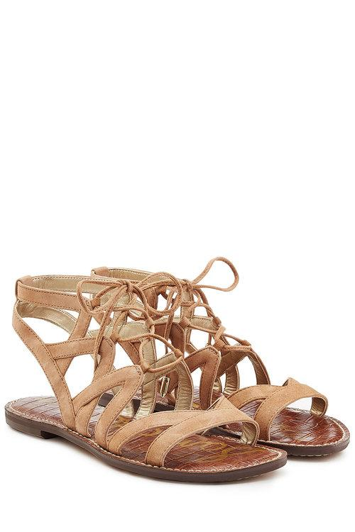 532cce90966 Sam Edelman  Gemma  Lace-Up Sandal (Women) In Golden Caramel Suede ...
