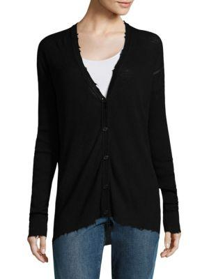 Helmut Lang Lightweight Knitted Cardigan In Black