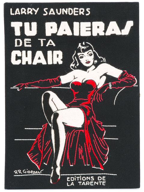 Olympia Le-tan Tu Paieras De Ta Chair Book Clutch In Black