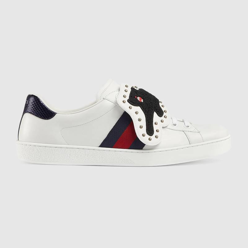 Gucci Ace Sneaker With Removable Patches In White