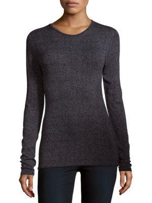 Tibi Long-sleeve Crewneck Sweater In Namel