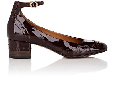 ba1fc4388c5a ChloÉ Perry Patent Leather Mary Jane Pumps - Past Brown In Merlot ...