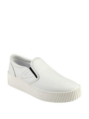 Tretorn Bella2 Leather Slip-on Fashion Sneakers In White