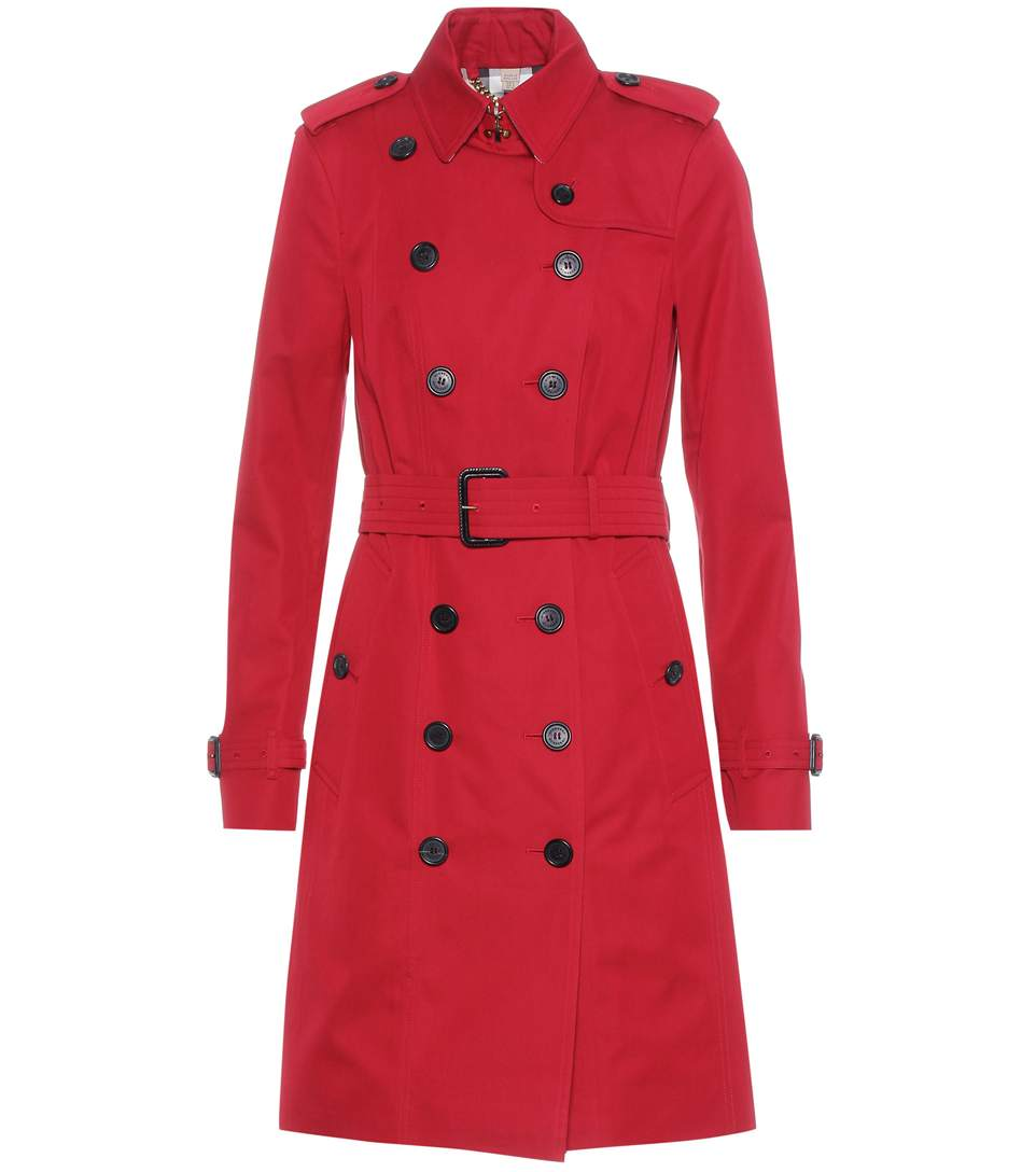Burberry Sandringham Trench Coat In Parade Red