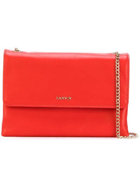 Lanvin Foldover Shoulder Bag - Red