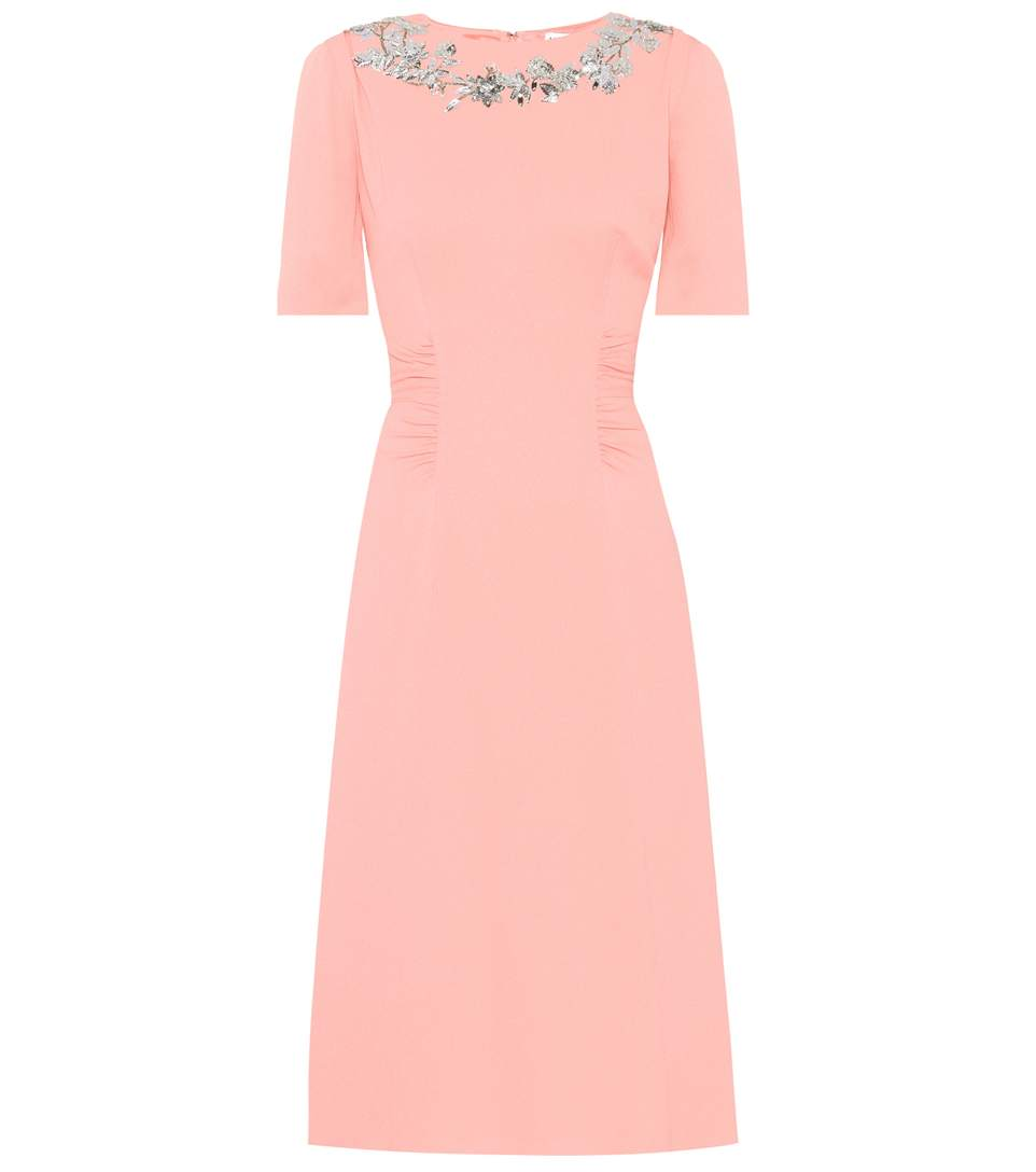 Altuzarra Sylvia Silk-crÊpe Dress In Pink