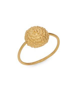 Valentino Garavani Goldtone Ball Pendant Ring