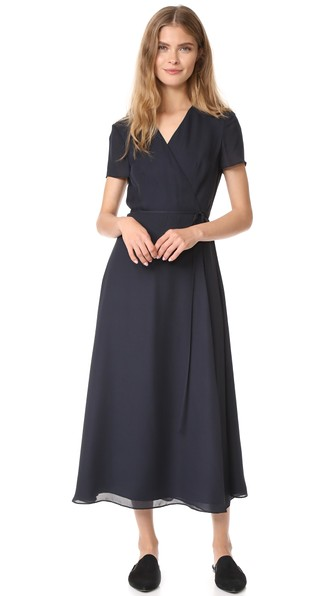 Jenni Kayne Wrap Dress In Navy