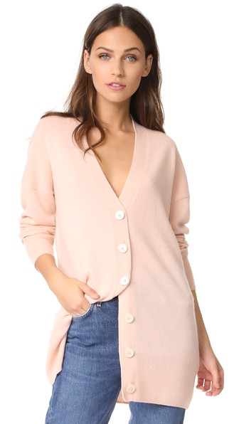 Equipment Gia Cashmere Button Cardigan In French Nude
