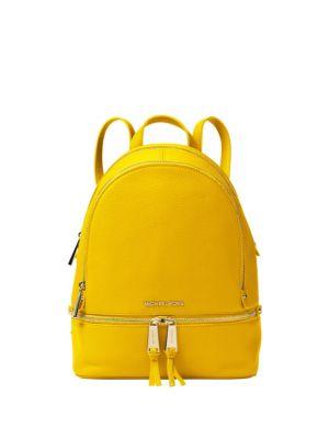 40e349227 Michael Michael Kors Rhea Zip Leather Backpack In Admiral | ModeSens