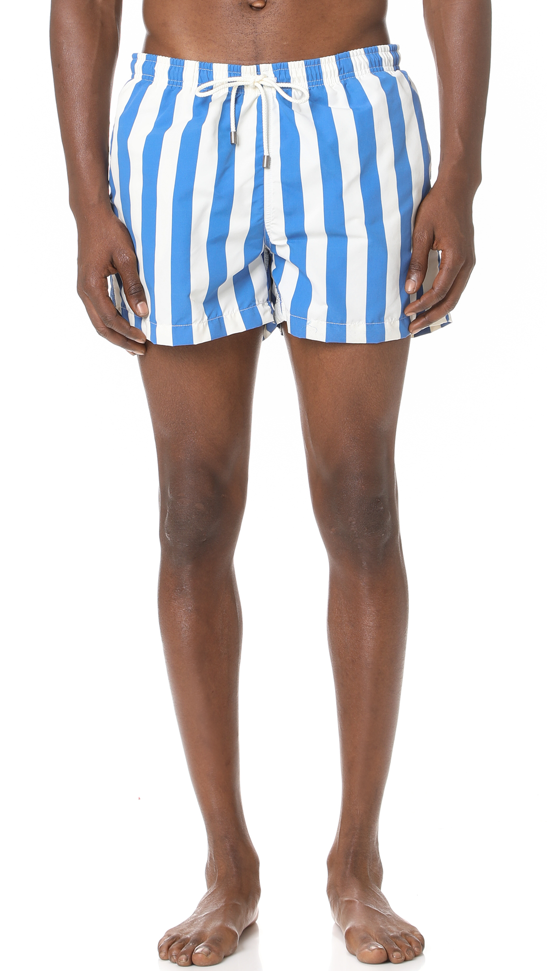 Solid & Striped The Classic Las Brisas Trunks In Royal Stripe