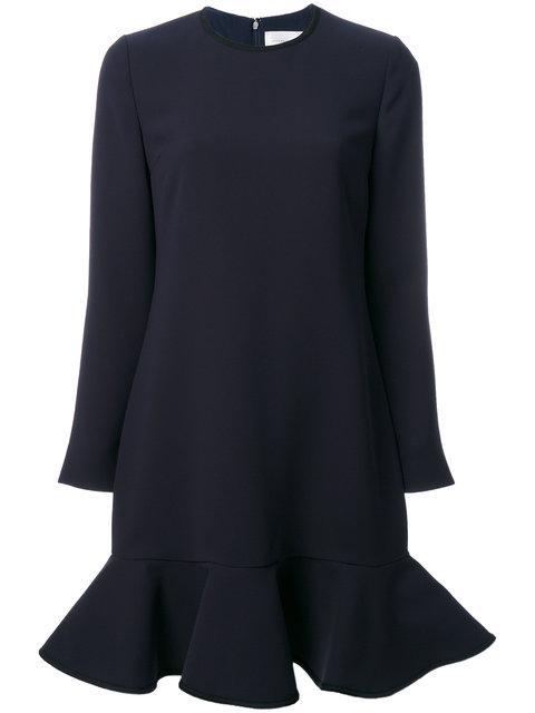 Victoria Victoria Beckham Flared Hem Dress - Blue