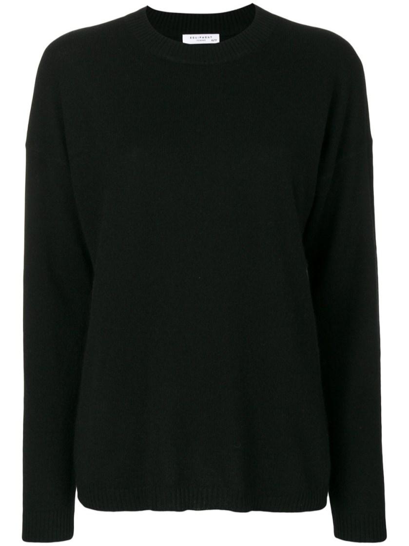 Equipment 'bryce' Plain Sweatshirt In Black