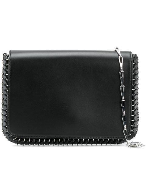 Paco Rabanne Metal Trim Shoulder Bag In Black