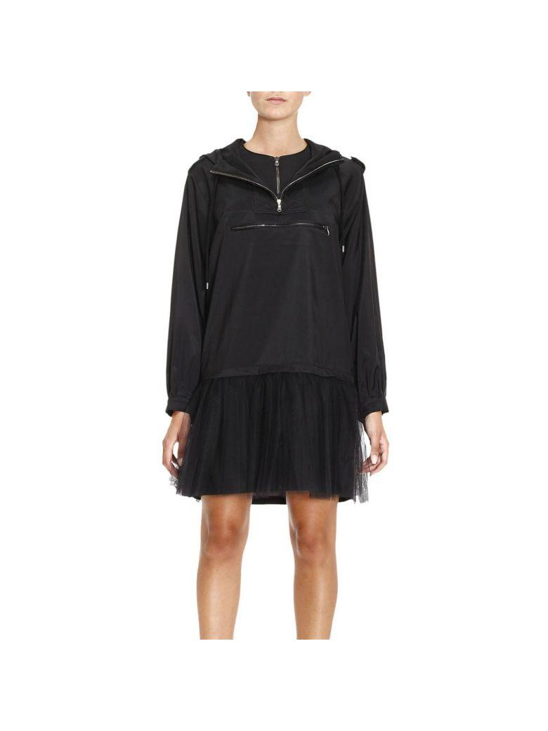 Moschino Hooded Dress In Black
