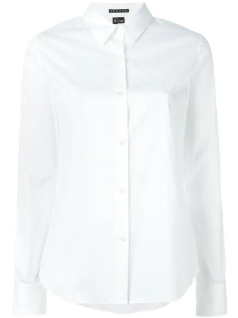 c188093b590306 Theory 'Narthus' Slim Fit Cotton Poplin Shirt In White | ModeSens
