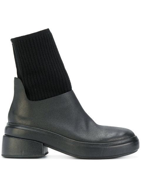 MarsÈll 'bozza' Leather Sock Boots In Black