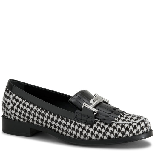 Tod's Effect Leather In White/black