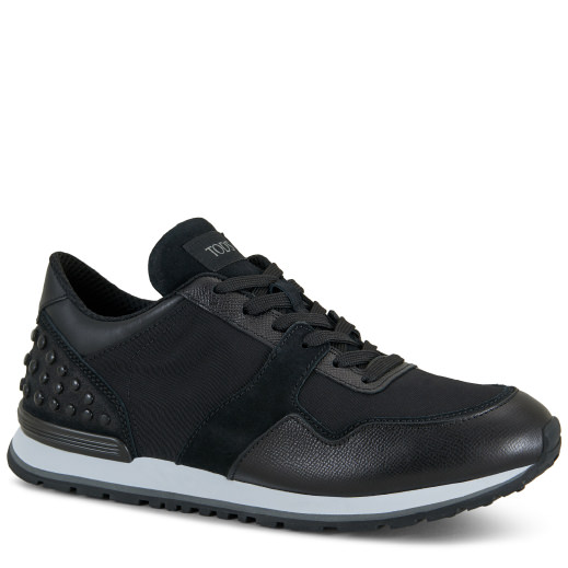 Tod's Sneakers In Leather In Black