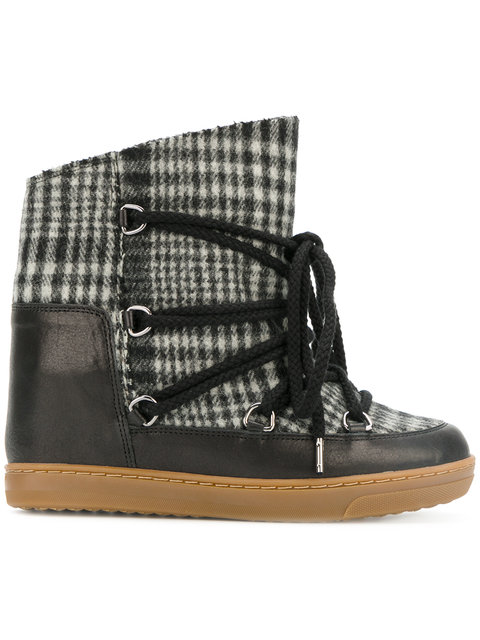 Isabel Marant Nowles Shearling-lined AprÈs-ski Boots In Grey
