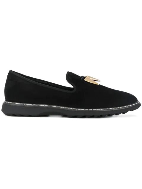 Giuseppe Zanotti Design Stew Shark Tooth Loafers - Black
