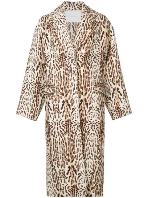 Adam Lippes Leopard-print Wool-gabardine Coat In Brown Print