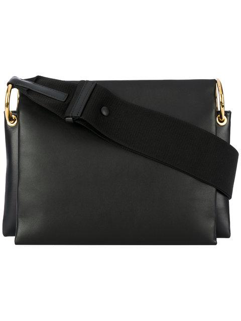 Marni Beat Supple Leather Bag In Black