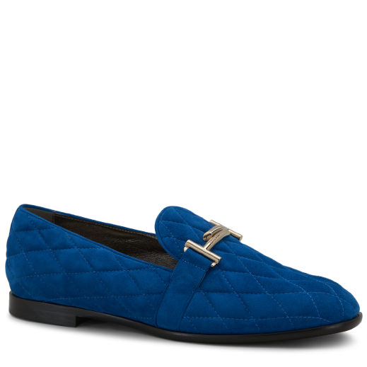 Tod's Moccasin In Suede In Blue