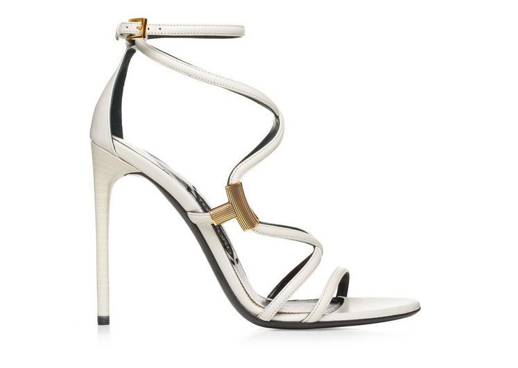 Tom Ford T Strappy Sandal In Chalk