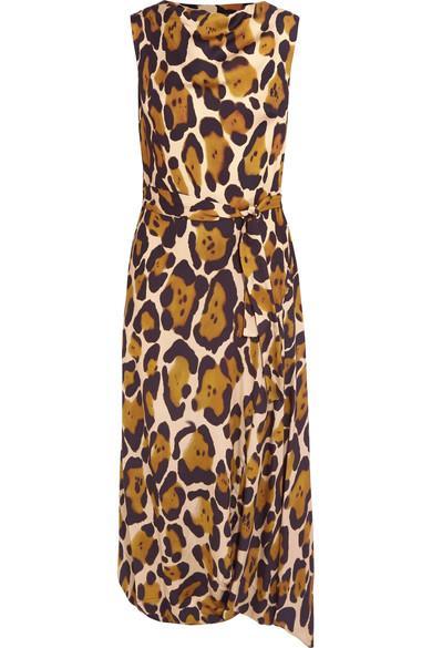 Vivienne Westwood Anglomania Vasari Leopard-print Jersey Midi Dress In Leopard Print