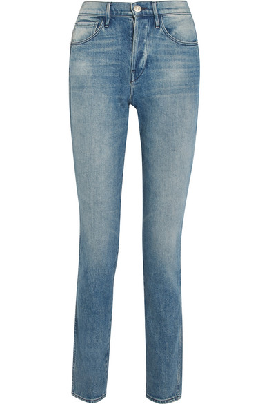 3x1 W4 Shelter Slim High-rise Slim Straight Jeans In Blue