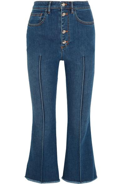 Sonia Rykiel Cropped High-rise Flared Jeans