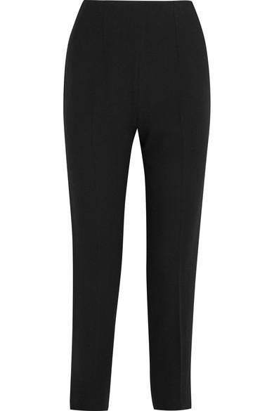 Emilia Wickstead Arabella Wool-crepe Slim-leg Pants