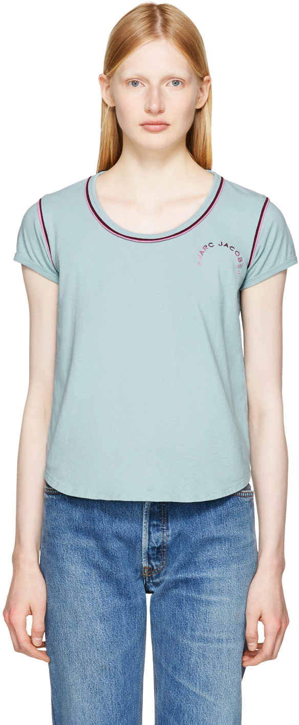 Marc Jacobs Cotton T-shirt In Blue