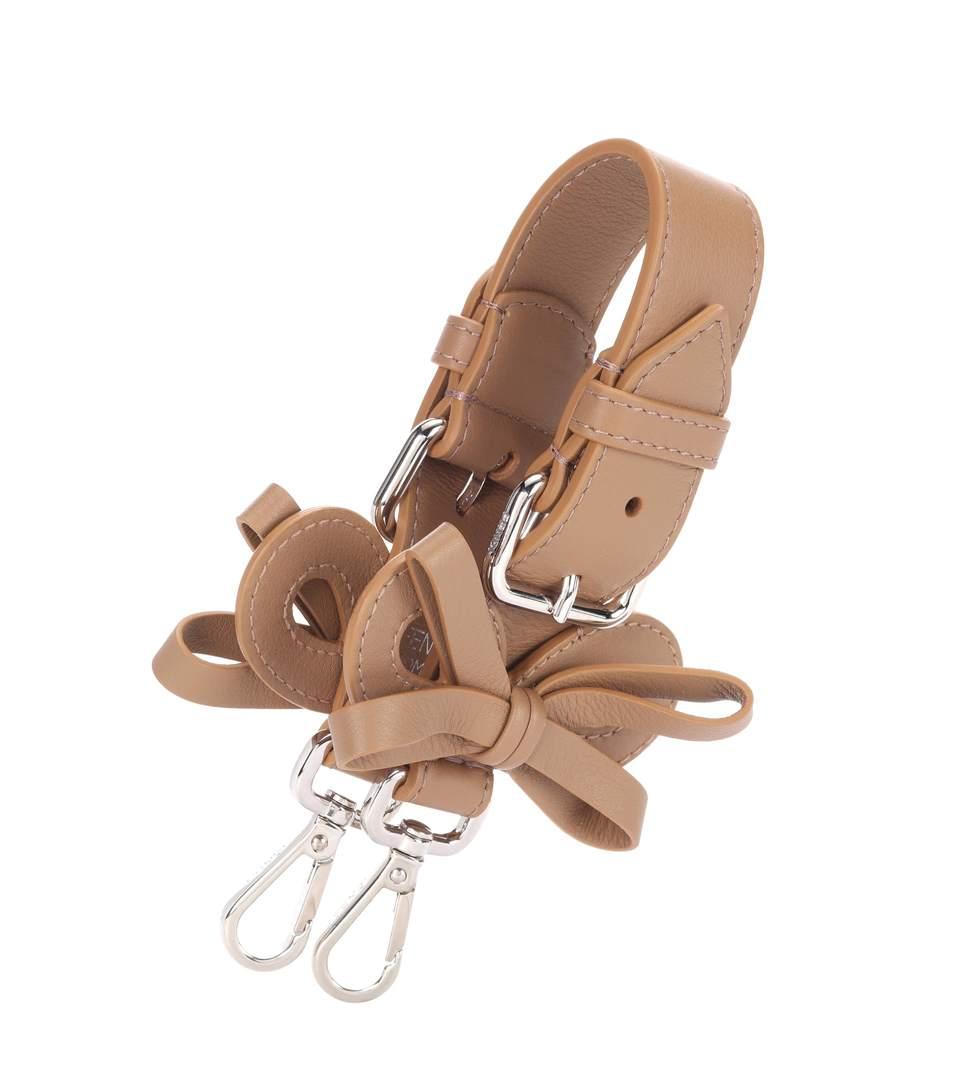 Fendi Mini Strap You Leather Bag Strap In Saed